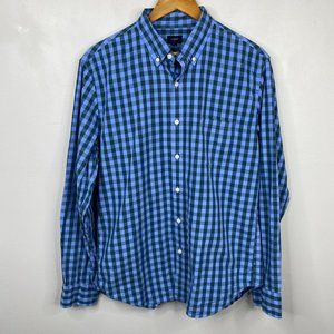 J.Crew Factory Long Sleeve Plaid Button-Up Shirt L